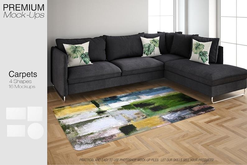Rugs Mockup | Carpet| Living Room Carpets | Round Rug| Rectangular Rug| |  Square Rug| Living Room Rugs Mockup | Rug And Carpet Mockup