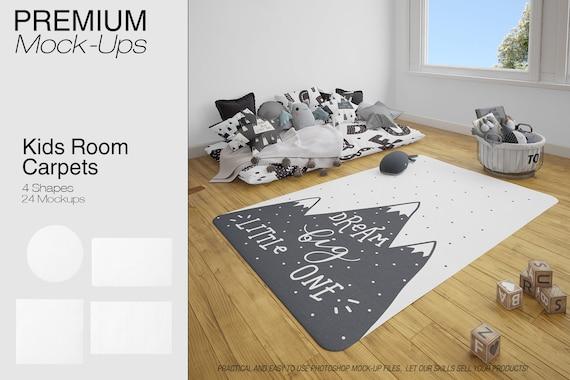 Kinder Teppiche Mockup | Teppich | Kinderzimmer Teppiche | Runder Teppich |  Rechteckige Teppich | | Platz Teppich | Kinderzimmer Teppiche Mockup | ...