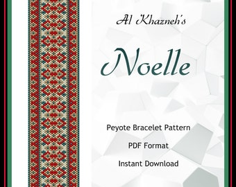 NOELLE Christmas Peyote Bracelet Pattern
