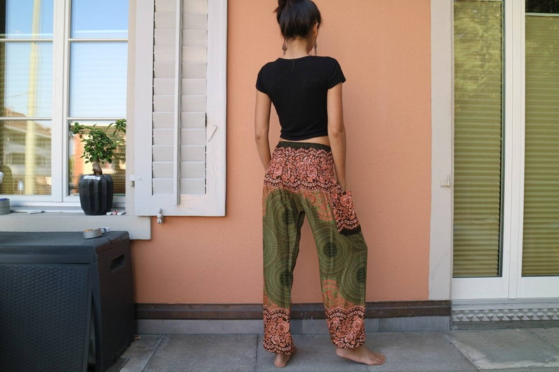 Flower pants Boho pants Hippie Harem Yoga pants 401