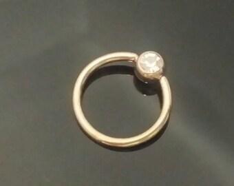 Copper Leaf Gemstone Belly Ring Captive Bead Choose 14g 16g 14 16 gauge 516 8mm 38 10mm 716  11mm 12 12mm Black Dangle Belly Hoop