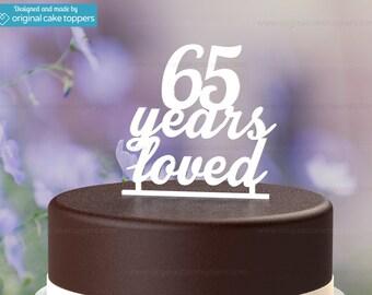 65th Birthday Cake Topper