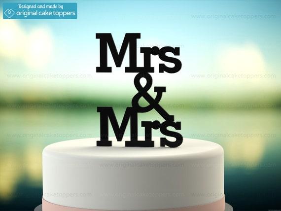 """/""""I Do Wedding Cake Topper Made by OriginalCakeToppers Me Too/"""" Black"""