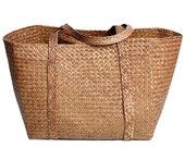 Nordic creative large Khaki home straw storage basket huge Khaki laundry basket toy organization wedding gift