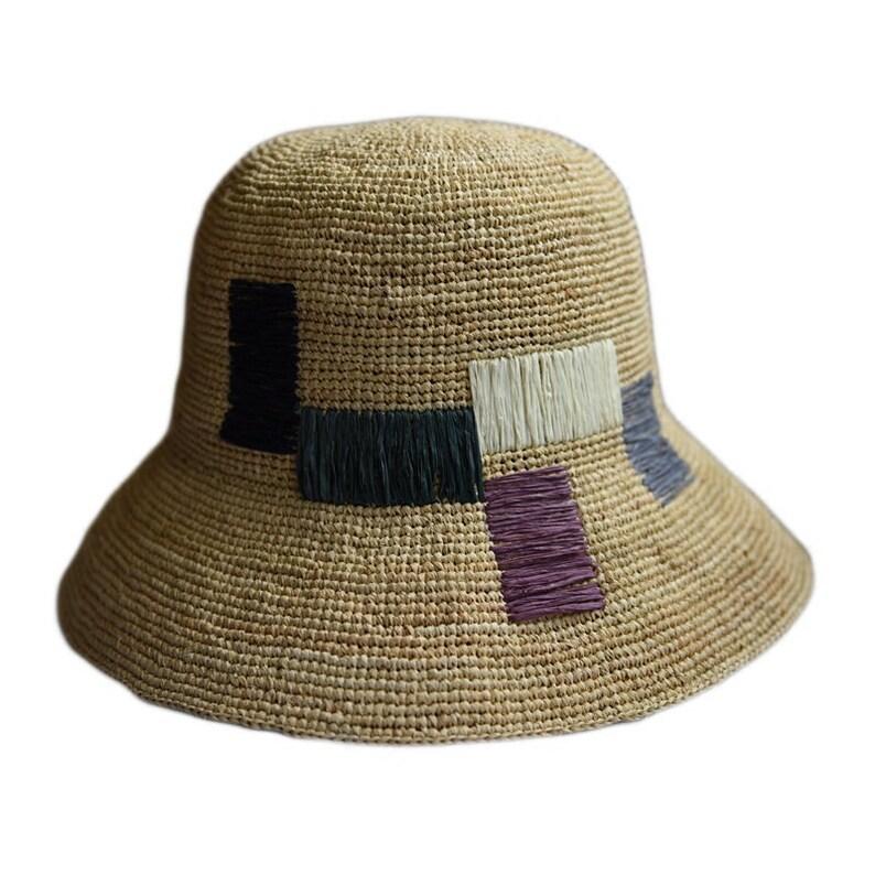 b53c523d Women's foldable summer straw visor/wedding gift wide | Etsy