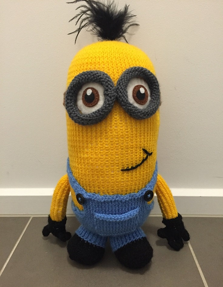 Kevin the Minion Knitting Pattern PDF from PatternsNPrototypes on ...