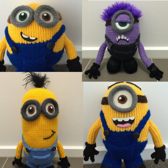 All Four Minion Knitting Patterns Pdf Etsy