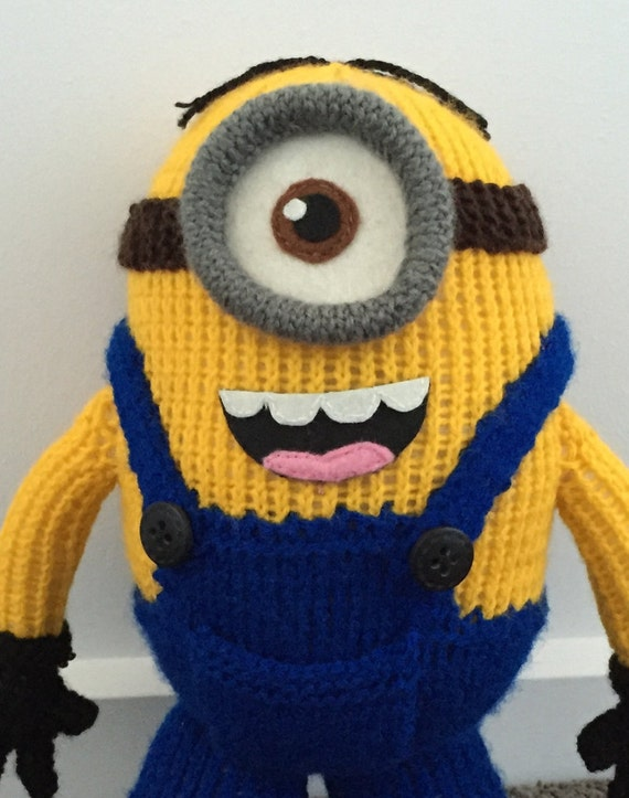 Stuart The Minion Knitting Pattern Pdf Etsy