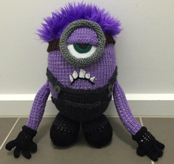 Crazy Purple Minion Knitting Pattern Pdf Etsy