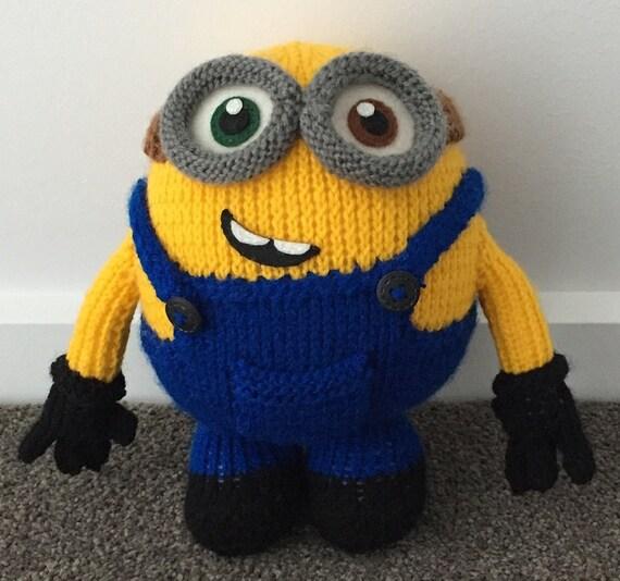 Bob The Minion Knitting Pattern Pdf Etsy