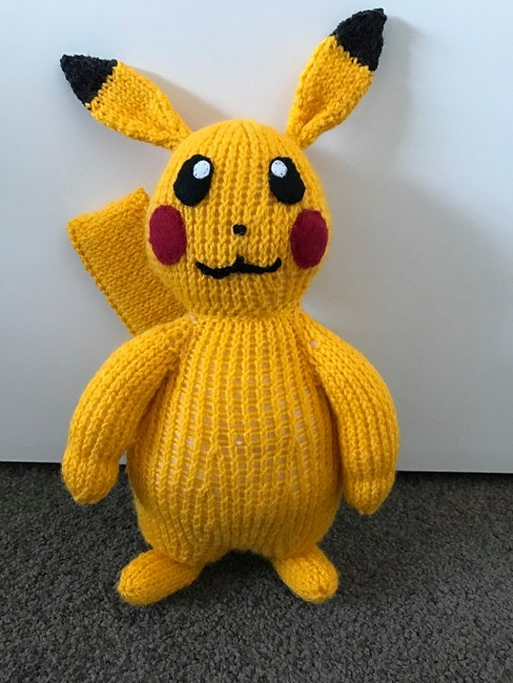 Pikachu Pokemon 25 Knitting Pattern PDF | Etsy