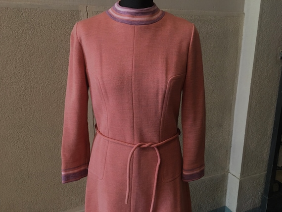 Stunning 1960s Space Age Wool Dress