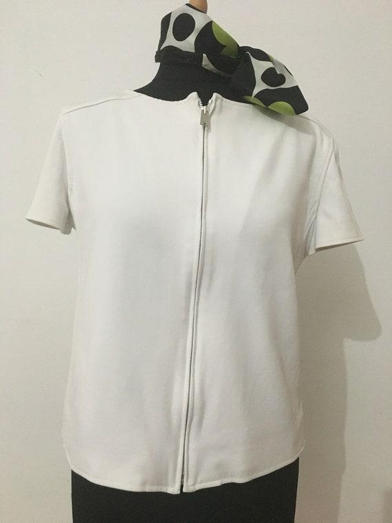 Beautiful Courreges Short Sleeves White Jacket
