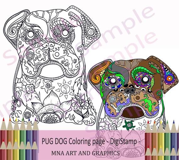 Barro amasado perro adulto para colorear página adultos para   Etsy