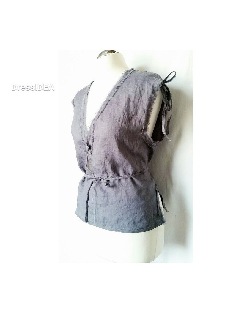 Linen Vest Womens Sleeveless Shirt V Neck Top Lightweight Clothes