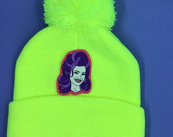 Beanie with costumized Patch - neon yellow!