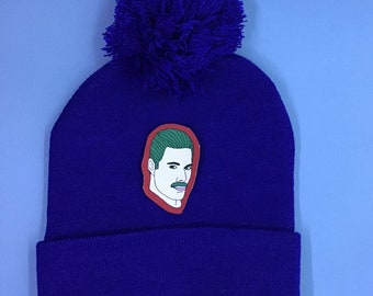 Beanie with costumized Patch - royal blue!