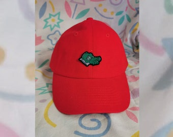 Red Cap with tiny Patch