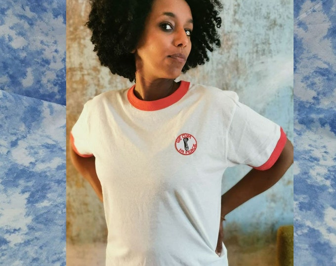 WE CUM in PEACE - Red/White Ringer Shirt