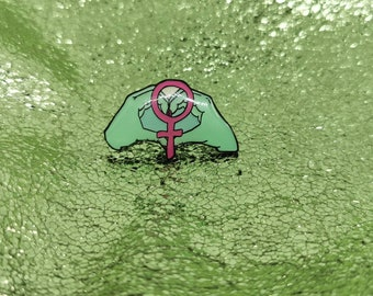 End Girl Hate Pin