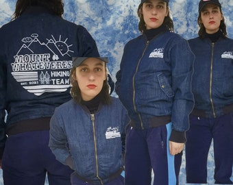 Mount Whateverest - Hiking Team - Jeans Bomber Jacket