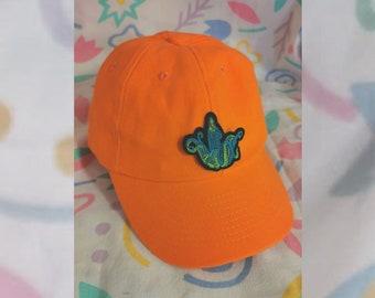 Orange Cap with tiny Patch