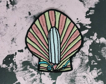 Tampon in a Shell embroidered Patch