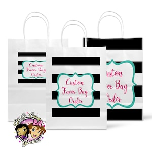 Custom party Custom Treat bags Custom Favor Bags Ohsocutesy Personalized party Personalized favor bags personalized party favors