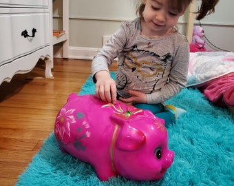 Large Piggy Bank  Chalkware Vintage style Coin Bank Jumbo Big Giant Carnival Retro (7 different colors) - FREE SHIPPING