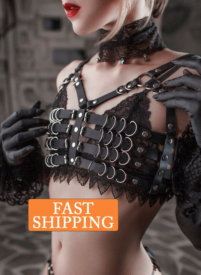 Fast Deliver Corset Gothic Leather Male Body Harness Briefs Seductive Suits Straps Costume Comfortable And Easy To Wear Sexual Wellness