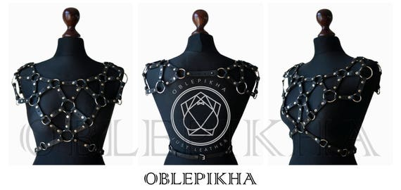 harness Woman chest harness necklace harness Bdsm belt outfit clothing Harness Body Fashion Burning Mature chest Shoulder Leather man R1w7dqXOx1