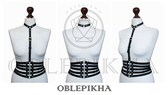 Fetish belt Body Bdsm lingerie Harness Lace bra Bdsm fetish cage Fashion harness Harness Leather black Frame top Leather Bondage Mature belt rTrEF