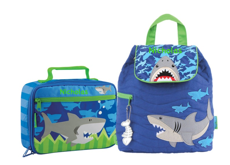 76137a0cf5f BOYS SHARK LUNCH box and Backpack cute boys matching set | Etsy