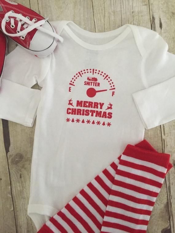 09e493230 BABY CHRISTMAS ONESIE 1st Christmas Onesie Sh%tters Full T