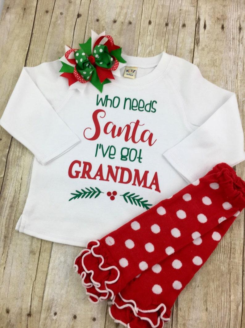 24ee2af64 WHO NEEDS SANTA When I Have Grandma YiaYia Mimi Nana | Etsy