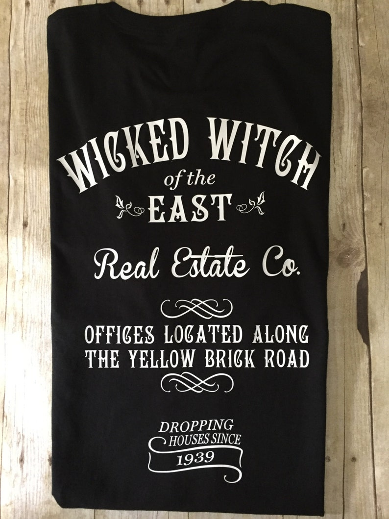 WICKED WITCH of the EAST Real Estate, Funny Adult t shirt  Adult Halloween  t shirt, Wizard of Oz inspired T shirt, Adult Halloween Costume