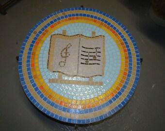 Music land mosaic coffee table