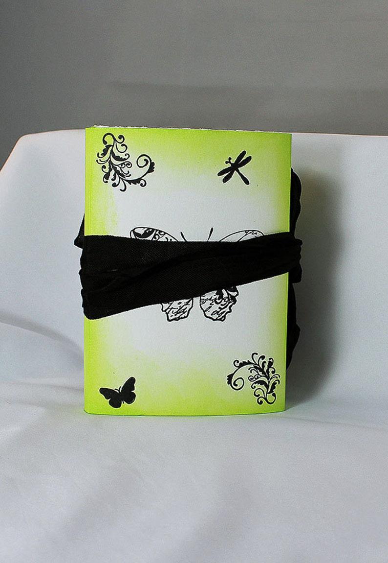 Handmade Green Butterfly Travel Journal  Art Journal  Green image 0