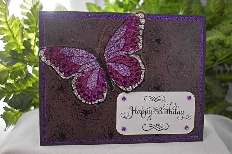 Hunkydory Greeting Card  Handmade Card  Butterfly Greeting image 0