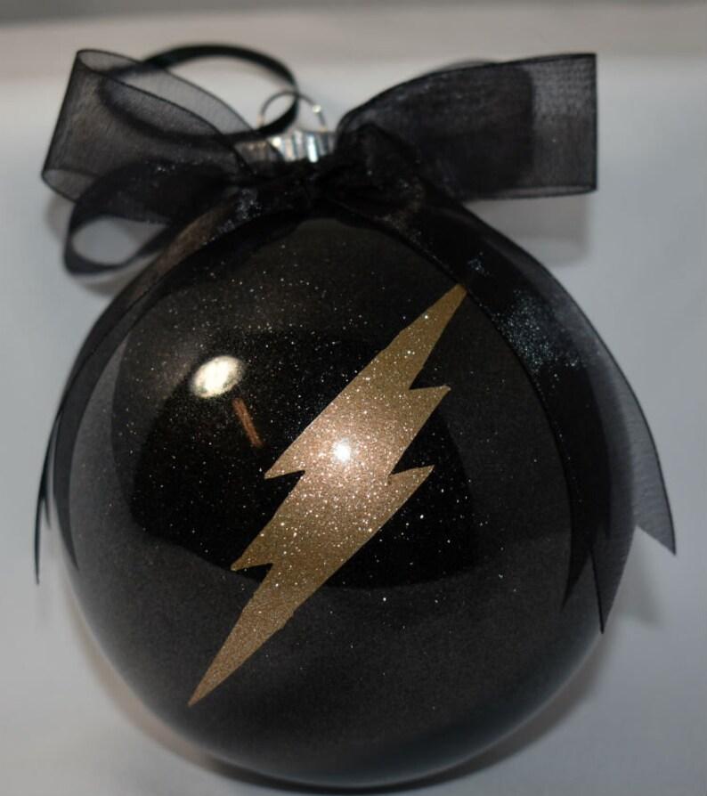 Christmas Glitter Ornament  Arrow and Flash Christmas image 0