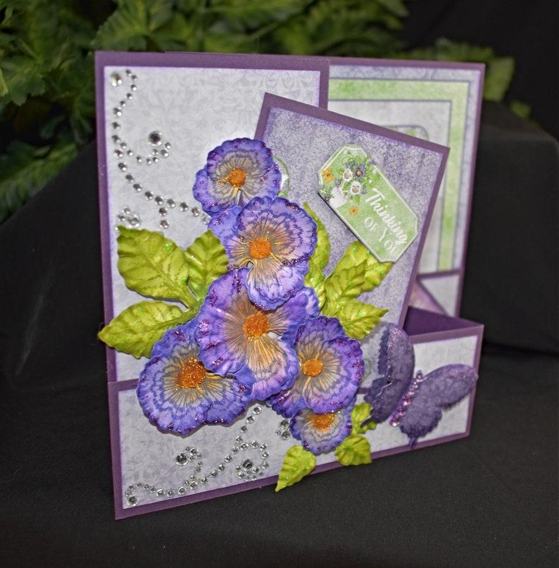 Handmade Greeting Card  Handmade Card  Thinking of You Card image 0