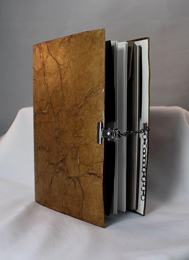 Handmade Brown Art Journal  Mixed Media Art Journal  Art image 0