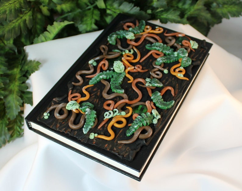Jungle Polymer Clay Journal  Forest Journal Cover  Polymer image 0