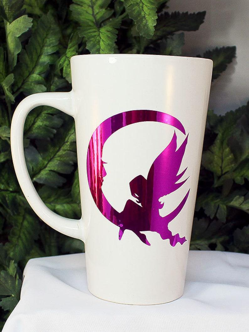 White Live the Life you Love Funnel Mug  Purple image 0
