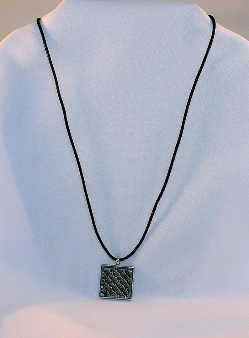 Gray Dragon Scales Gray Handcrafted Glass Dragon Scale Necklace Dragon Scales Glass Dragon Scales Necklace 13-008A