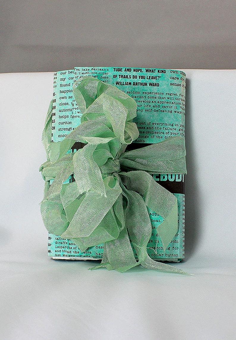 Handmade Teal Travel Journal  Handmade Art Journal  Small image 0