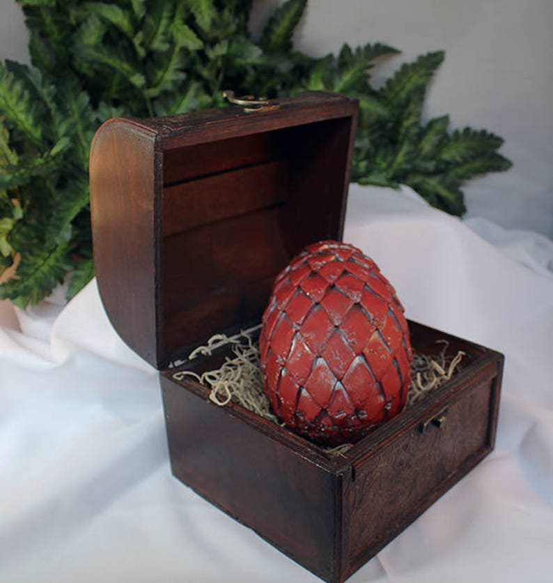 Polymer Clay Extra Large  Dragon Egg in Chest  Dragon Egg  image 0