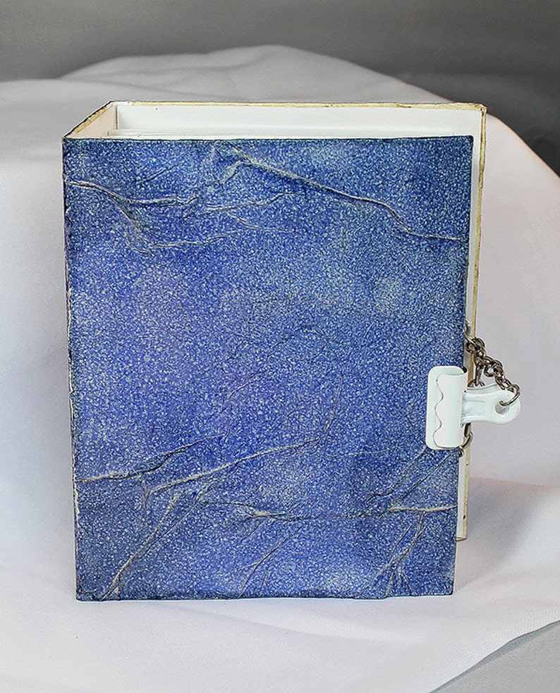 Handmade Blue Art Journal Small  Mixed Media Journal  image 0