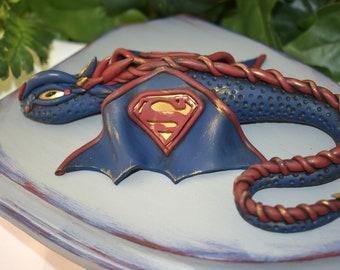 Polymer Clay Dragon Decor - Clay Dragon - Wall Decor - Polymer Clay Dragon Plaque - Dragon Sculpture - Clay Dragon Art - 1-101