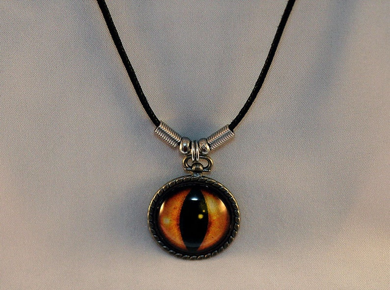 Yellow Handcrafted Glass Dragon Eye Necklace  Dragon Eye  image 0